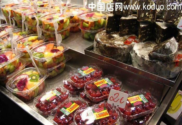 水果店装修设计效果图(一)