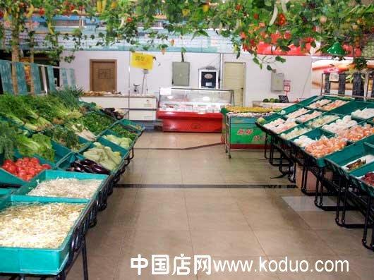 蔬菜店装修 设计效果图高清图片