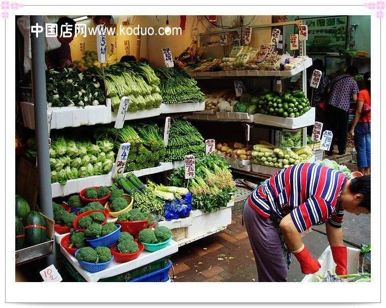 蔬菜店 装修设计效果图高清图片