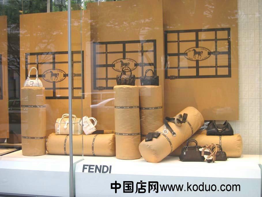时尚包店,包包店橱窗装修设计效果图图片