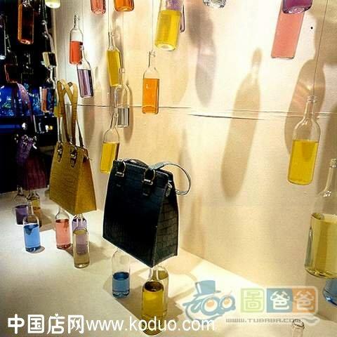 时尚包店 包包店 橱窗 装修 设计效果图 中国店