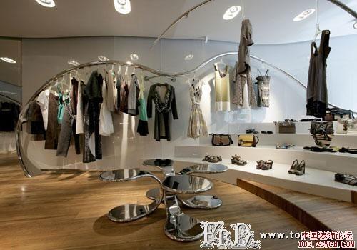 服裝店裝修設計效果圖-中國店網