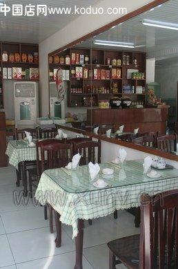 8餐饮网   饺子店门头装修设计效果图 小型快餐饺子馆装修效