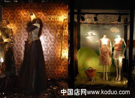 又如,经营钟表的商店橱窗陈列的是布娃娃;工艺品商店的橱窗里却摆放着