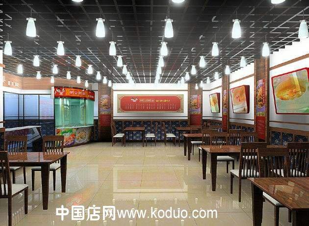 粥店装修设计效果图(二)