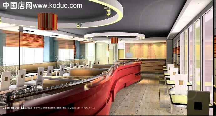 效果图 装修设计/快餐店、快餐厅装修设计效果图(一)