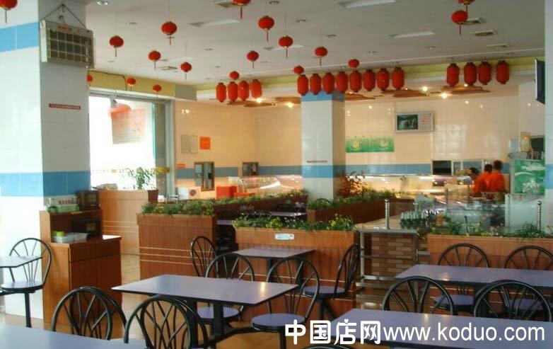 快餐厅设计效果图_快餐店、快餐厅装修设计效果图(二)-中国店网