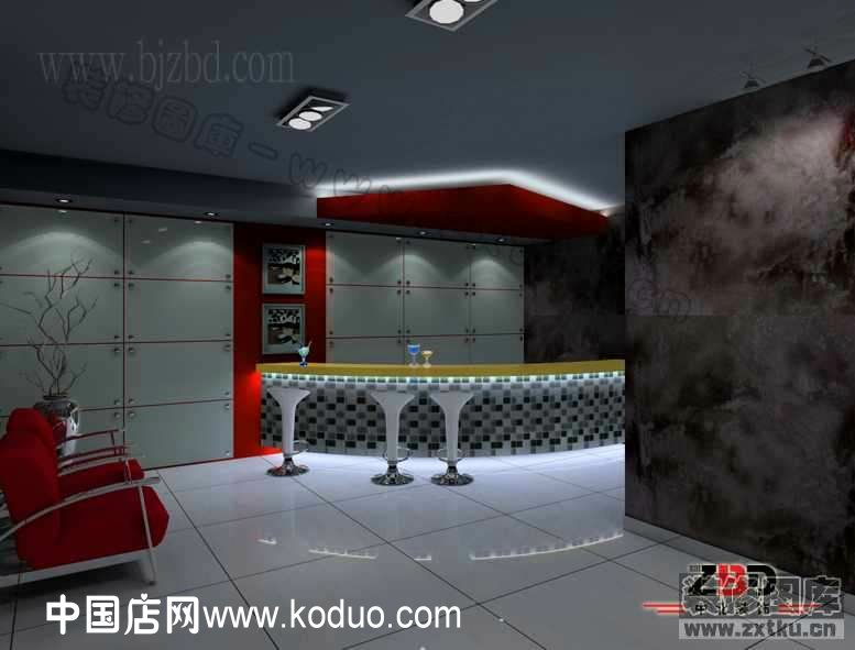 ktv 卡拉ok厅吧台装修设计效果图 中国店网