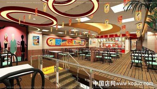 快餐店,快餐厅装修设计效果图(一)