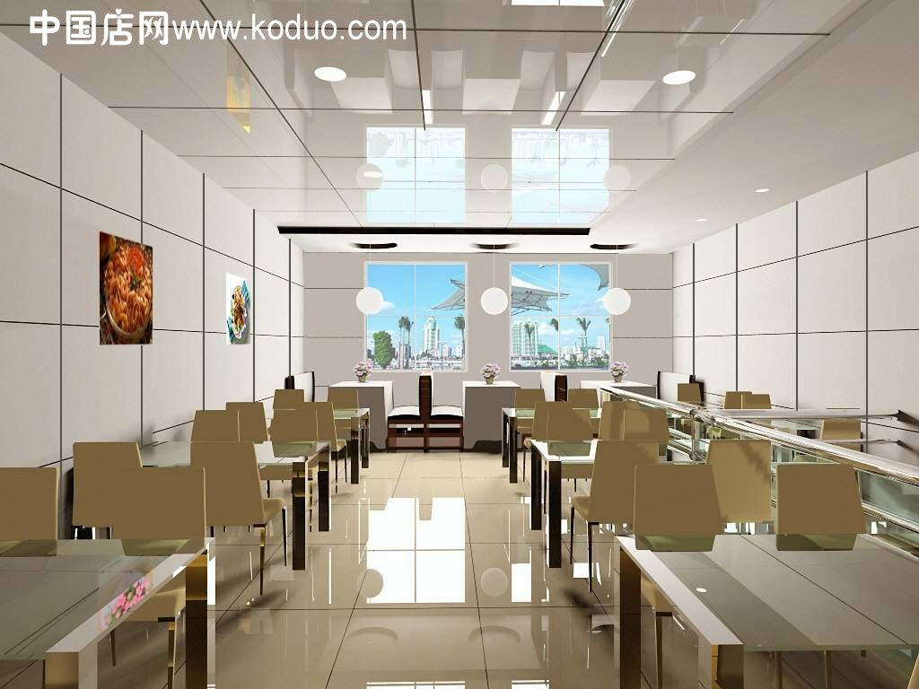 广告语_快餐店、快餐厅装修设计效果图(二)-中国店网