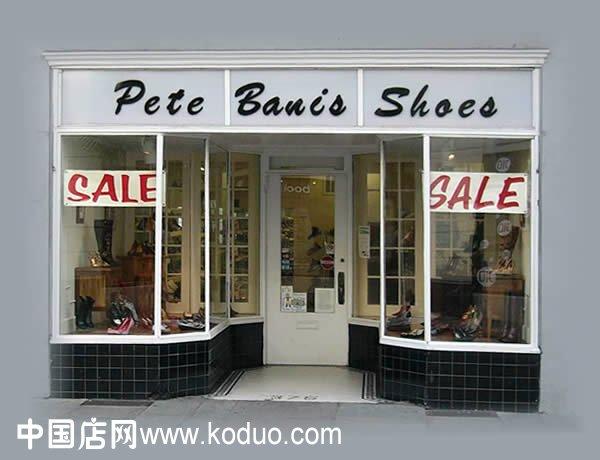 鞋店门头装修设计效果图