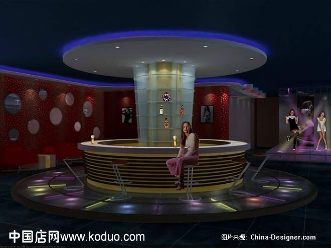 ktv,卡拉ok厅吧台装修设计效果图-中国店网